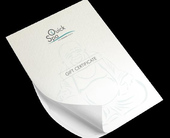 Voucher-Gift Certificate-QuickSpa-Nicosia